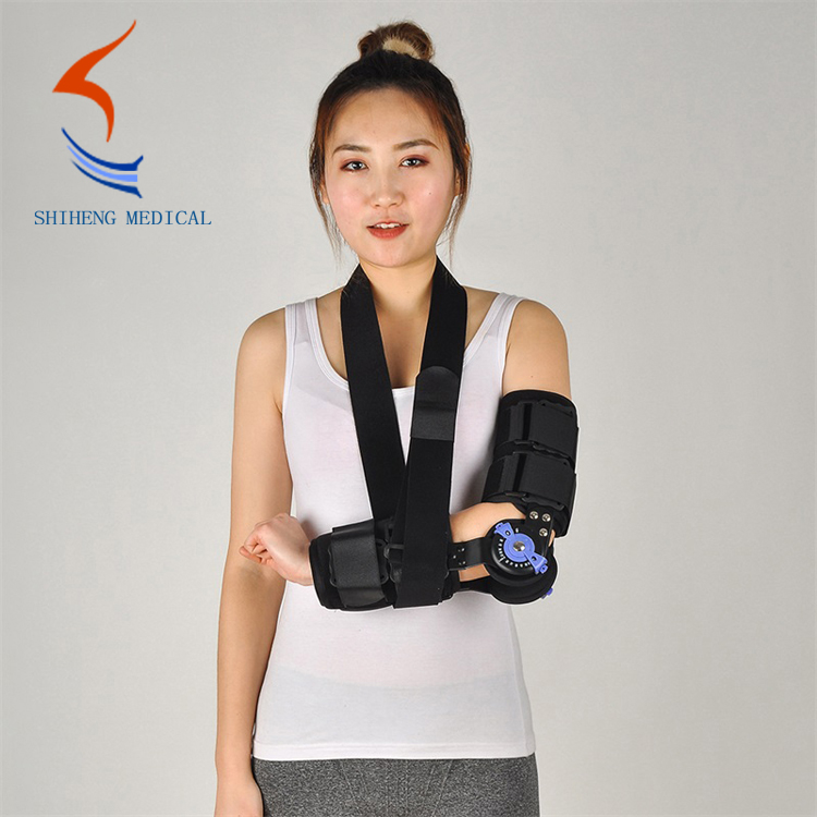 Adjustable elbow hinged brace support